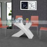 Modern X Base 8 Seater Dining Table Tempered Glass Dining Table Wooden Dining Table With Glass Top Designs