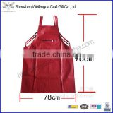 custom red pu leather aprons kitchen cooking waterproof oil-proof with pocket