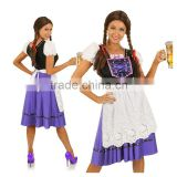 Clubwear Wholesale Halloween Outfit French Beer Girl Serving Wench Waitress Costume