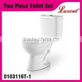 High Quality Ceramic Siphonic S-trap Two Piece Economic Toilet Ware White Top Dual Flush