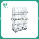 5 tier white powder coated bread basket