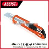 Utility Cutter Knife/Industrial Safety Utility Knife,18mm Retractable Utility Knife with 3pcs Extra Blades