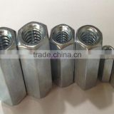 Custom made Aluminum long hex coupling nut