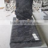 Bahama blue granite headstone granite tombstone design                                                                         Quality Choice