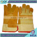 cow split leather welding gloves full palm pig grain leather gloves/ pigskin gloves/ pig leather gloves/