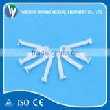 Disposable plastic umbilical cord clamp for new born baby