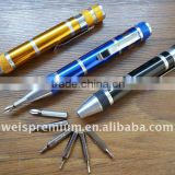 Promotional aluminium mini Screwdriver tool pen