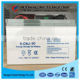 Factory price low self-discharge maintenance free 12V 90Ah solar gel battery