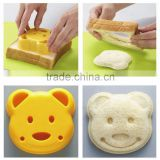 2015 new Home DIY Cookie Cutter Plastic Sandwich Toast Bread Mold Maker Cartoon Bear cake mold cooking tools