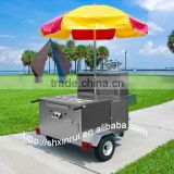 2014 High Quality Stainless Steel Fast Snack Hot Dog Push Serving Box Trailer Cart XR-HD120 A