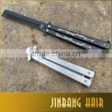 Hot sale Stainless Steel Practice Training butterfly knife comb with Dragon pattern