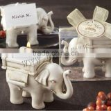 white color fashion gift home decorative wood Elephant Candle Holder