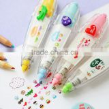 Wholesale New Design Custom Shapes Stationery Supplies Accessories Colorful Mini Highlighter Markers Pen with Logo Print