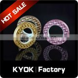 KYOK Silver Metal Curtain Rod Pole Rings,28mm Internal Diameter Voile Net Hanging Curtain Rings