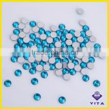 Decorative blue zircon flat back glass stone for garment accessories