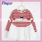 Wholesale Hot Sale New Fashion Frock long Sleeve Christmas Baby Girl TuTu Dress