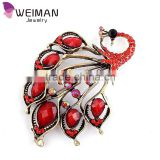 2016 New lapel flower European Fashion sapphire-jewelry brooches,Beautiful Big Peacock Brooch