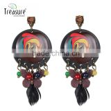 fashion jewelry wholesale mix color butterfly black feather dangle earrings jewelry