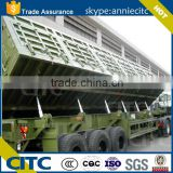 3 axle container tipping trailer,box stake semi trailer /bulk light cargo transport semi trailer