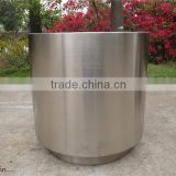 Round stainless steel outdoor planter wholesale