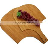 double pizza peel customized bamboo cutting board