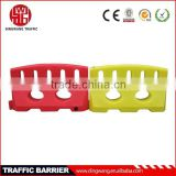 yellow block road safety barrier
