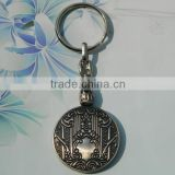 Customized double sided 3d antique metal key chains
