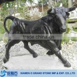 Black marble animal life size bull statue                                                                         Quality Choice
