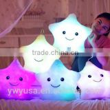 2016 LED Night Glow Star Shape Pillow Home Decor