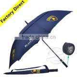 Double Layer Custom Windproof Advertising Promotional Rain Golf Umbrella                                                                         Quality Choice