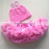 Kids clothes solid pink popsicle girl pettiskirt outfits