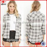 2015 China wholesale woman shirt cotton blend plaid shirts for women                                                                         Quality Choice