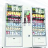 Mixed Combo snack bottle drink can beer milk vending machine super large with large capacity with touch screen and bill card pay