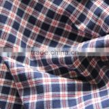 Wholesale yarn dyed plaid brushed cotton fabric for mens shirt