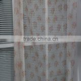 Cheap price baby bedroom flower 3D printed voile sheer curtain fabric for custom made curtains