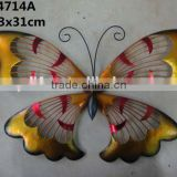 Wrought iron butterfly decorative wall art