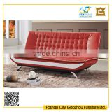 Leather sofa bed for sale metal frame folding sofa cum bed design for living room furniture