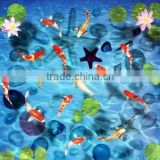 Self-adhesion custom photo wallpaper 3D stereoscopic Ocean World PVC flooring