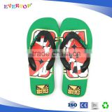 Comfortable cheap rubber flip flops customize printing rubber slippers manufacturers beach footwear