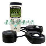 TM-208 _ Solar, UVA & Light Meter (3 in 1), with 3 3/4 digits backlit LCD with max. reading 3999