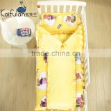 100% cotton Infant Kindergarten anti kicking sleeping bag quilt for four seasons detachable and washable yellow teddy bear
