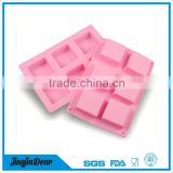 Professional Manufacturer soap square shape silicone mold cake decorating pudding tools silicone chocolate candy mold