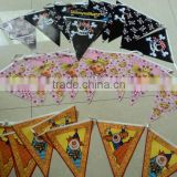 Plastic Multi Colored Small Pennant Flags Bunting For Christmas