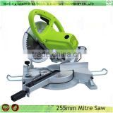 Electric 255mm gear type woodworking tools compound miter saw