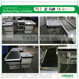 metal and steel retail cash counters and wraps