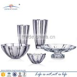 Wholesale clear crystal wide mouth glass vase martini for wedding centerpieces