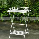 Lovely Vintage Wrought Irons Bistro Antirust Folding Metal Decorative Outdoor Garden Table Rack