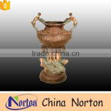 outdoor decoration lady statue large bronze flower pot NTBF-FL148S