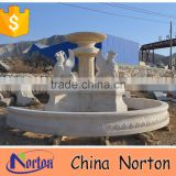 large garden natural marble lion fountain NTMF-S516S