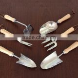 Stainless Garden Hand Tools, trowel/fork/ cultivators,FSC ash wood handle, high quality rich experience